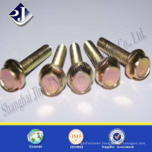 Factory Supplier Low Price OEM Yellow Zinc Hexagon Bolt with Flange                                                                         Quality Choice