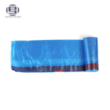 Wholesale blue hdpe garbage bag with red drawstring