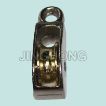 Nickel Plated Fixed Eye U.S Type Pulley With Single Wheel
