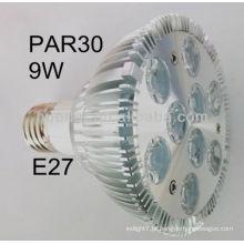 Shenzhen fabricante alta qualidade 100-240v B22 E26 E27 9w Par30 levou spotlight par30 9w
