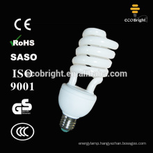 T4 25W Half Spiral compact fluorescent lamp bulb 10000H CE QUALITY