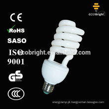 T4 25W espiral meia lâmpada fluorescente compacta bulbo 10000H CE qualidade