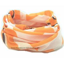 На заказ Логотип печатной эластичной УФ защиты полиэстер шею труба шарф головные уборы