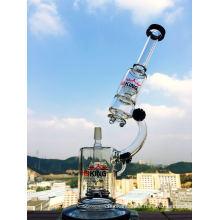 Mikroskop-Form Rocket Perc Creme Fabrik Großhandel Preis Glas Rauchen Wasser Rohr