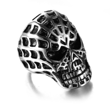 Cool man Spiderman mask skull ring