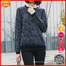 Lässige koreanische Art lose Pullover intarsia strickte Pullover freies Muster