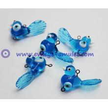 Blue evil eye charm bird pendants wholesale