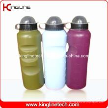 Plastik-Sport-Wasser-Flasche, Plastik-Sport-Wasser-Flasche, 700ml Plastik-Getränk-Flasche (KL-6731)