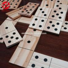 EASTONY Juego divertido para niños Dominó de madera educativo para niños Juego de dominó de madera