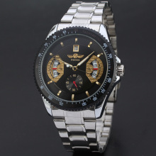 winner multi function men watch bezel outsert date design