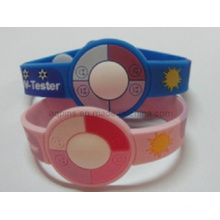 Silicone Bracelet with Embossed Logo