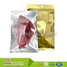 Accpet Oem personalizado de plástico sello térmico Food Grade embalaje de papel de aluminio vacío secado bolsas de envasado de carne