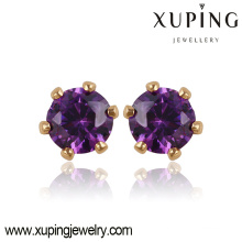 Fashion Nice Gold-Plated Round CZ Crystal Cheaper Jewelry Earring Studs 21221