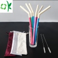 Unique Double Color Silicone Soft Straw for Drinks