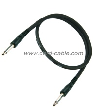 DML Series Instrument Guitar Cable Jack to Jack Black PVC Jacket