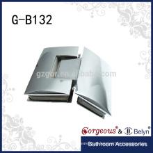 135 Vidro para vidro Dobradiça de porta de vidro de serviço pesado Dobradiça de pivô de porta de chuveiro de choque