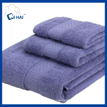 Solid Color Plain Satin Cotton Bath Towel Sets (QHD5TT9)