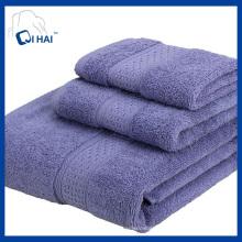 Cor sólida lisa de algodão de cetim toalha de banho conjuntos (qhd5tt9)