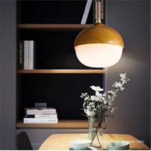 Modern lighting wood glass dinning room chandelier pendant light for kitchen island