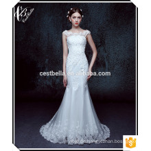 Elegantes schickes Hochzeits-Brautkleid Vestido De Noiva weiße Meerjungfrau-Hochzeits-Kleider 2015 XL016