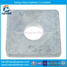 Chinesischer Lieferant Bester Preis DIN 436 Kohlenstoffstahl / Edelstahl quadratische Unterlegscheiben für den Einsatz in Holzbau mit Zinkbeschichtet / HDG