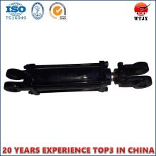 Cilindro hidráulico de doble efecto con tipo de extremo de horquilla para maquinaria agrícola