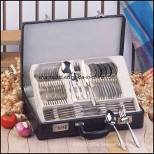 72 PCS Cutlery Set with Leather Box