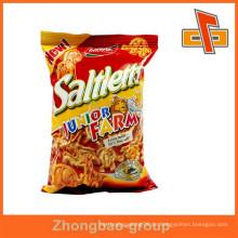 Lebensmittel Industrielle Anwendung und Tiefdruck Druck Handling Kunststoff laminiert Tasche für Snack-Verpackungen