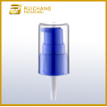 Plastic cream pump with AS overcap