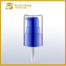 Plastic cream pump with AS overcap