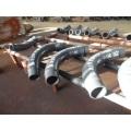 Tuyau coude en acier résistant à l'usure bimetal