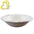 Bacia de sopa plástica branca da melamina do projeto da rachadura