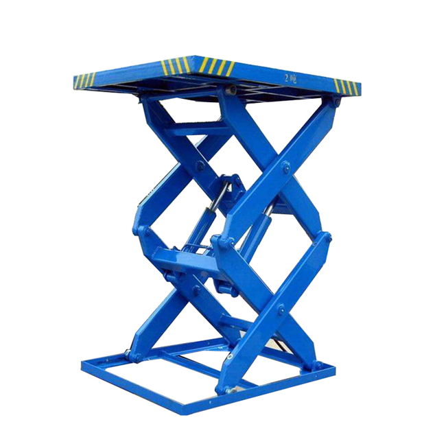 hydraulic cargo lift stationary scissor lift platform
