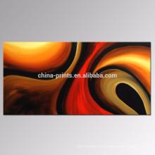 Pintura al óleo hecha a mano contemporánea / arte moderno de la pared de la lona / decoración de la sala de estar Pintura abstracta
