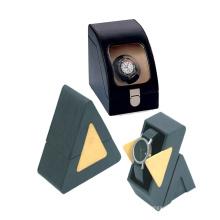 Eco-Frendly pulido pequeño triángulo caja de embalaje para reloj