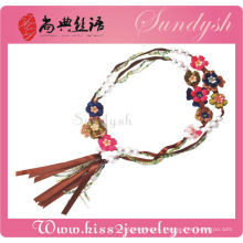 Accesorios de moda cinturones de flores hechos a mano pretina