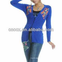 13STC5653 Fashion woman sweater chinese style ladies cardigan sweater