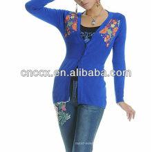 Camisola do cardigan das senhoras do estilo chinês da camisola da mulher da forma 13STC5653