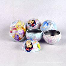 Atacado Customized FDA Pequeno Metal Round Ball em forma de doces Chocolate Tin Packaging Caixas