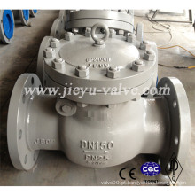 Pn25 Dn150 Aço Carbono Válvula de retenção Swing Wcb
