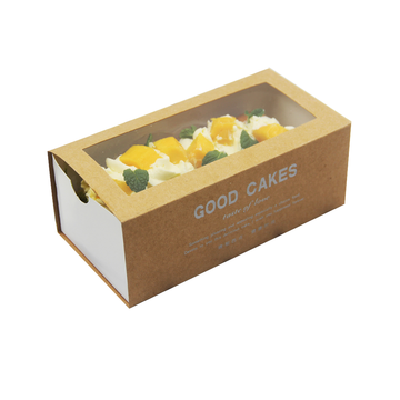 Tipo de gaveta Kraft Paper Take Out Cake Box