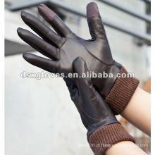 Luvas de pele de veado inverno personalizado touchscreen