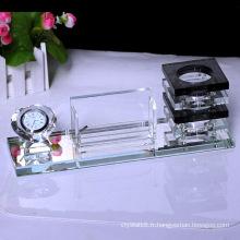 Beau porte-stylo en cristal de verre optique