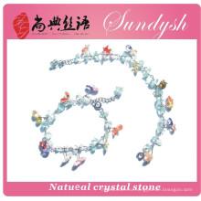 по-настоящему изысканный ручной старинные мода большой зеленый кристалл druzy драгоценного натуральная повезло разноцветные лава агат натуральный камень браслет
