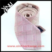 Hundezahn-italienischer Entwurf rosa weiße gute Qualitäts-Krawatte