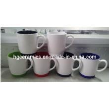 Ceramic Mug with Silicon Bottom, Ceramic Coffee Mug