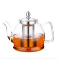 custom borosilicate glass heat resistant luxury large tea set teapot