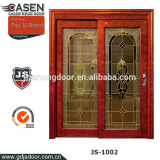 China sliding wood frame glass door