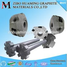 rotor y eje de grafito de resistencia a la oxidación para la desgasificación de aluminio