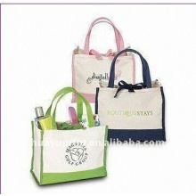 designer cotton shopping bag & cotton drawstring bag